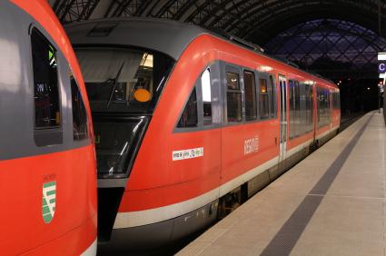 Red train - Deutsche Bahn